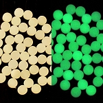 ACRYLIC MOON GLOW DOTS GREEN 1/4 X .080 BAG OF 50 PCS